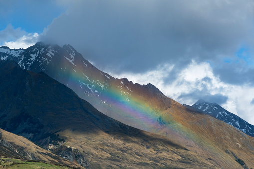 春「Rainbow over a mountains near Glenorchy.'n」:スマホ壁紙(19)