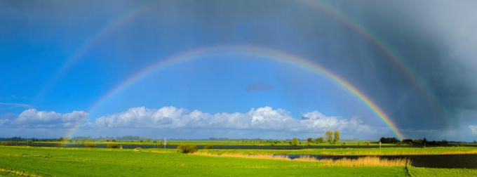 Double Rainbow「Rainbow over the river IJssel」:スマホ壁紙(2)