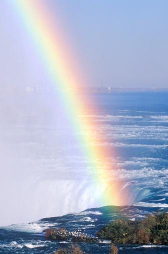 虹「'Rainbow Over Niagara Falls, New York'」:スマホ壁紙(5)