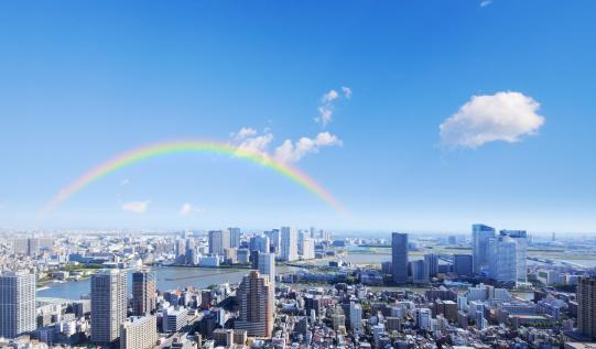 虹「Rainbow Over Tokyo」:スマホ壁紙(10)