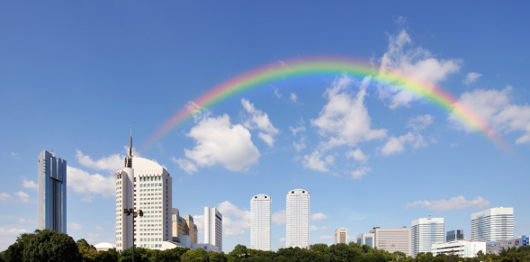 虹「Rainbow Over Makuhari Messe」:スマホ壁紙(10)