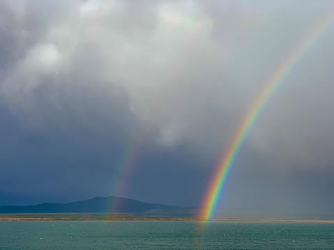 Double Rainbow「Rainbow over the Golfo Almirante Montt near Puerto Natales, Chile」:スマホ壁紙(16)