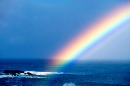 虹「米国ハワイ O'ahu 、レインボーには太平洋が広がっています。」:スマホ壁紙(15)