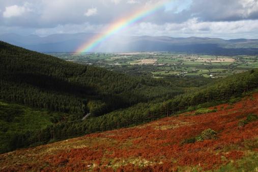 虹「rainbow over the vee in munster province」:スマホ壁紙(5)