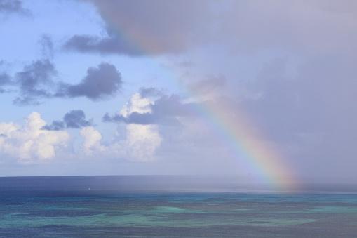 Northern Mariana Islands「Rainbow over the sea in Saipan, Northern Mariana Islands」:スマホ壁紙(4)