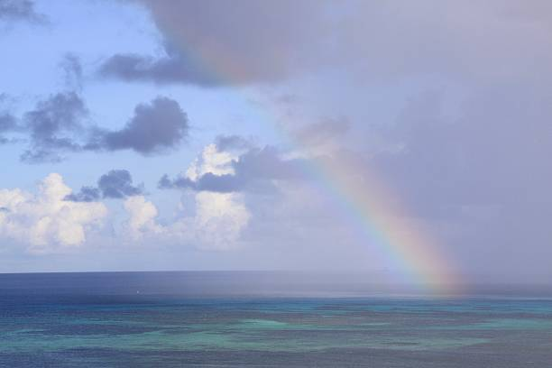 Rainbow over the sea in Saipan, Northern Mariana Islands:スマホ壁紙(壁紙.com)