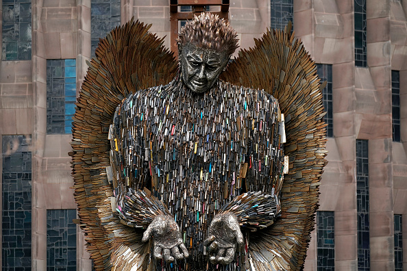 Sculpture「Knife Angel Sculpture By Alfie Bradley Installed At Coventry Cathedral」:写真・画像(0)[壁紙.com]