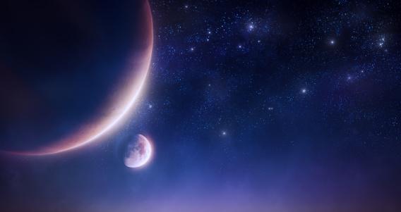 Moon「Space」:スマホ壁紙(19)