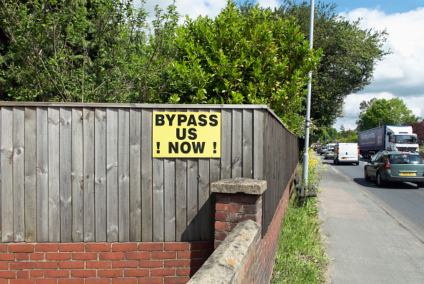 Brick「Road bypass' campaign signs in a village on the A140 route between Ipswich and Norwich, Suffolk, UK」:写真・画像(4)[壁紙.com]