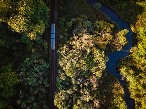 Denmark「Train in nature」:スマホ壁紙(12)
