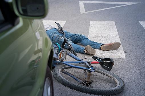 夕焼け 海「Bicycle accident」:スマホ壁紙(16)