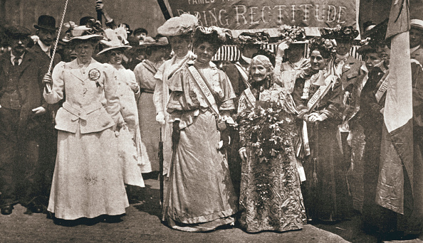 Edwardian Style「The Head Of The Women's Sunday Procession To Hyde Park London 21 June 1908」:写真・画像(8)[壁紙.com]