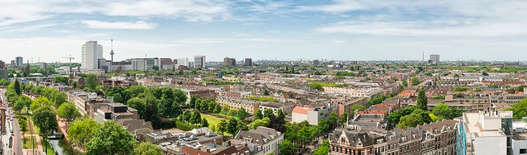 Netherlands「Rotterdam downtown aerial panorama」:スマホ壁紙(1)