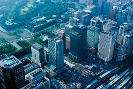 東京都中央区「Aerophotograph around Tokyo Station」:スマホ壁紙(19)