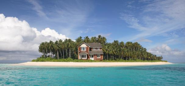 島「House on tropical island」:スマホ壁紙(6)