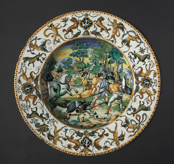 16th Century「Plate: A Boar Hunt」:写真・画像(2)[壁紙.com]