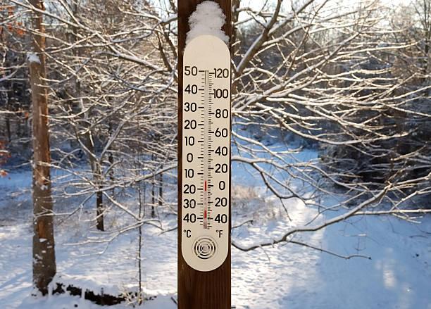 Cold snowy temperature gauge.:スマホ壁紙(壁紙.com)