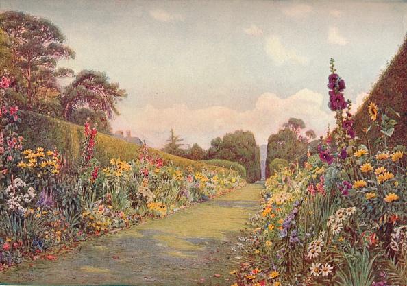 太陽の光「The Long Border, Holme Lacy, (1903). Artist: Ernest Arthur Rowe」:写真・画像(14)[壁紙.com]