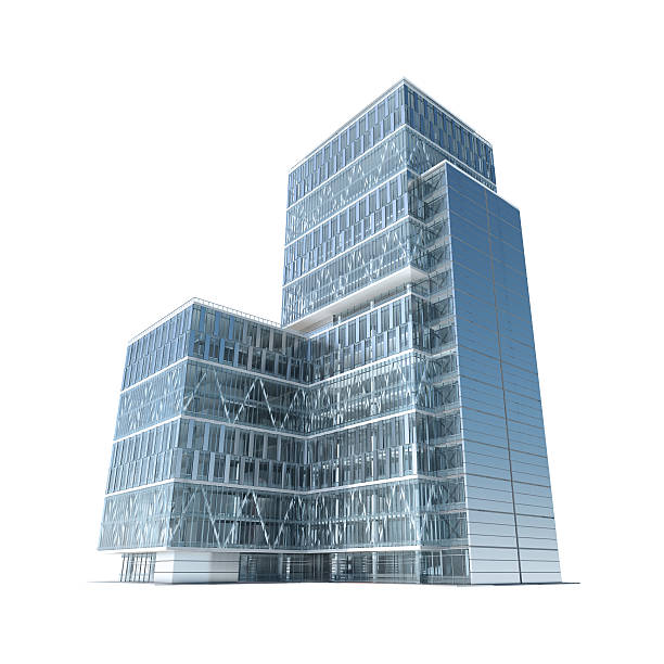 Successful business: modern corporate office building with clipping path:スマホ壁紙(壁紙.com)