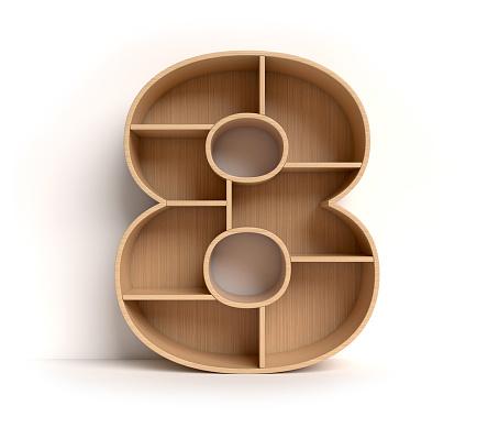 Number「Shelf font number 8」:スマホ壁紙(12)
