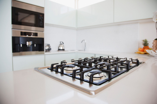 Low Angle View「Stove and oven in modern kitchen」:スマホ壁紙(12)