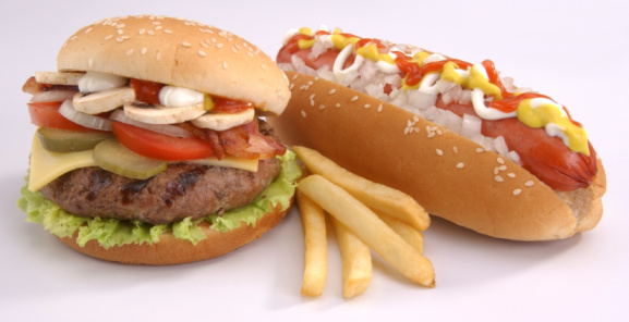 Hot Dog「Burguer and hot dog with french fries」:スマホ壁紙(6)