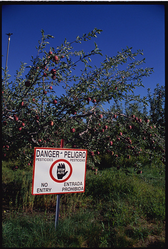 Insecticide「Pesticide Warning Sign in an Apple Orchard」:スマホ壁紙(18)