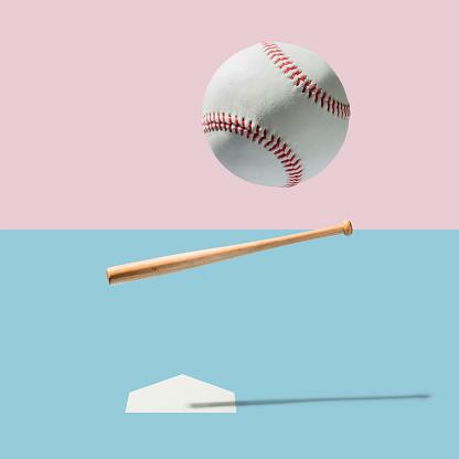 Digital Composite「Baseball bat and Baseball Ball」:スマホ壁紙(12)