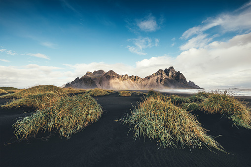 Wilderness「Black Sand Dunes With Vestrahorn」:スマホ壁紙(18)
