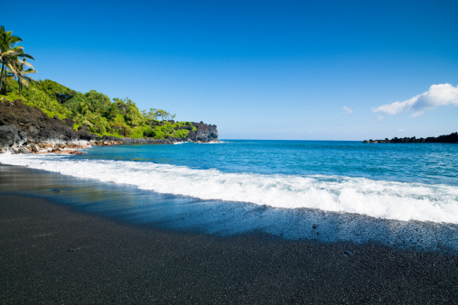 Hawaiian Culture「Black Sand Beach Honokalani Wainapanapa Maui Hawaii」:スマホ壁紙(19)