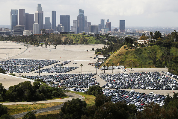 Cityscape「Unused Rental Cars Stored At Dodger Stadium Parking Lot During COVID-19 Outbreak」:写真・画像(8)[壁紙.com]