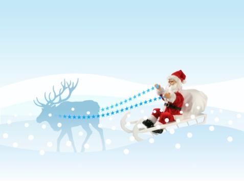 Sled「Santa Claus on his sleigh」:スマホ壁紙(9)