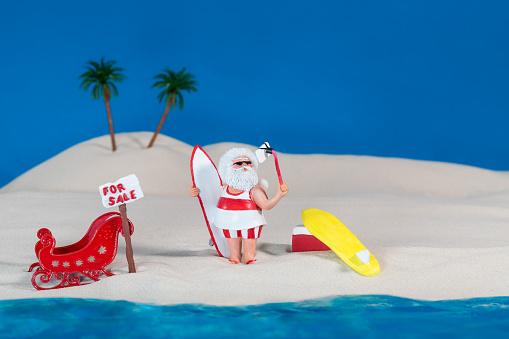 Flip-Flop「Santa Claus Takes A Surfing Holiday At The Beach」:スマホ壁紙(12)