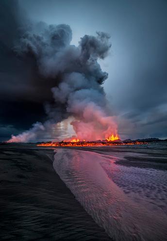Active Volcano「Volcanic Eruption, Holuhraun Fissure, Iceland」:スマホ壁紙(3)