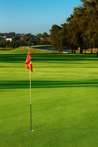 Green - Golf Course「Beautiful golf course, red flag」:スマホ壁紙(17)