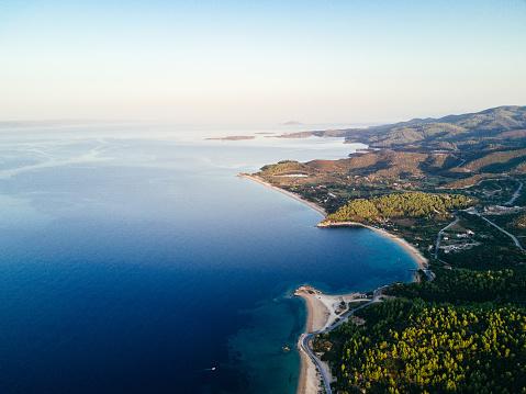 夕焼け 海「美しいギリシャ)」:スマホ壁紙(8)
