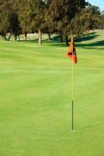 Putting - Golf「Beautiful green golf course, red flag」:スマホ壁紙(3)