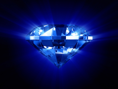 Refraction「Beautiful glowing blue diamond」:スマホ壁紙(7)
