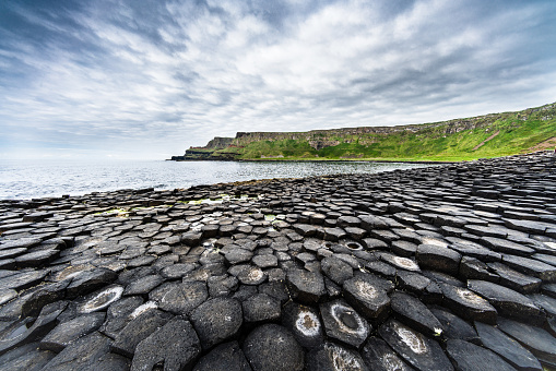 Volcanic Landscape「Beautiful Giants Causeway Panorama Northern Ireland」:スマホ壁紙(19)
