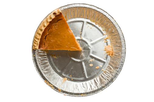 Pumpkin Pie「Overhead Pumpkin Pie One Piece Left Isolated」:スマホ壁紙(1)