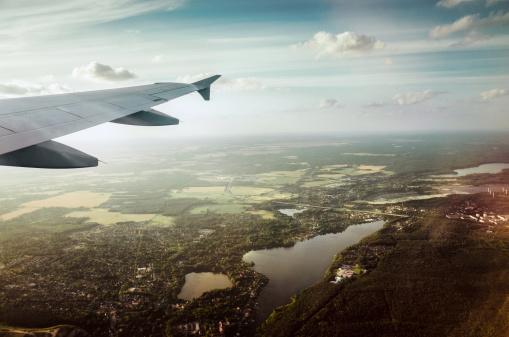 Airplane「View out airplane.」:スマホ壁紙(10)