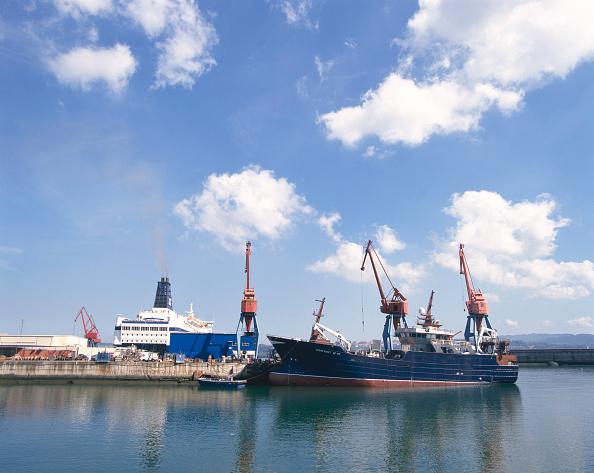 Passenger Craft「Bilbao to Portsmouth ferry and cargo ship Ocean Quest at docks Port of Bilbao, Santurtzi, Spain, 2003」:写真・画像(3)[壁紙.com]