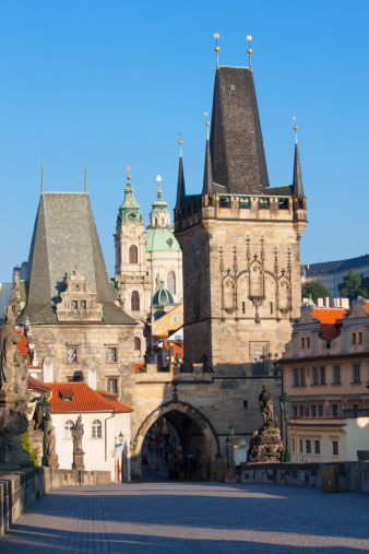 Charles Bridge「Charles Bridge, Mala Strana Bridge Tower, Prague」:スマホ壁紙(1)