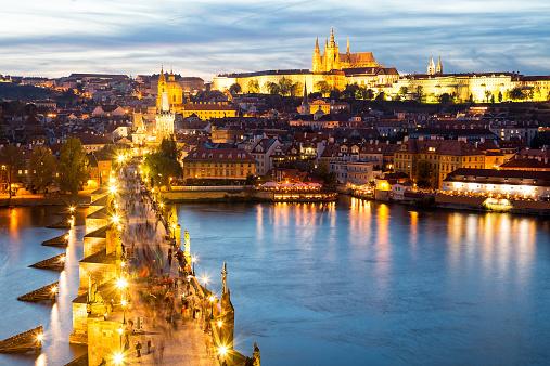 Hradcany Castle「Charles Bridge, River Vltava and Castle District in Prague」:スマホ壁紙(16)