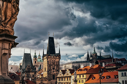 St Vitus's Cathedral「Charles bridge tower in Prague」:スマホ壁紙(7)