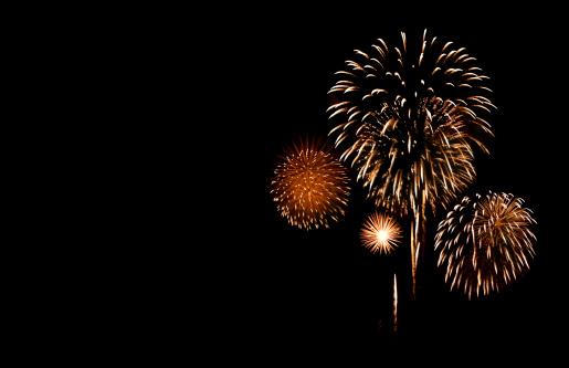 Firework Display「Fireworks with Copy Space」:スマホ壁紙(2)