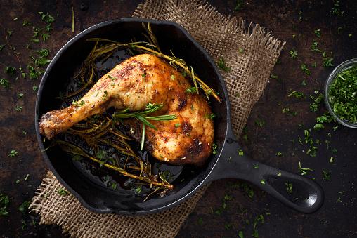 Chicken Meat「Chiken leg in a skillet」:スマホ壁紙(9)