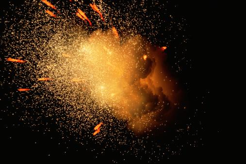 Fireball「Exploding fireball with shower of sparks」:スマホ壁紙(5)