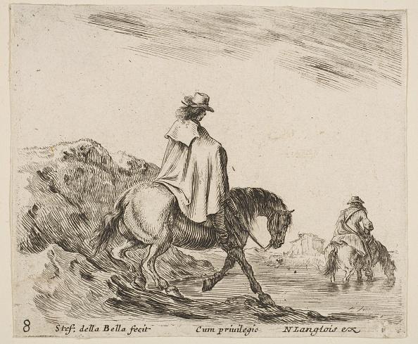 Water's Edge「Plate 8: A Horseman Descends A Riverbank」:写真・画像(8)[壁紙.com]