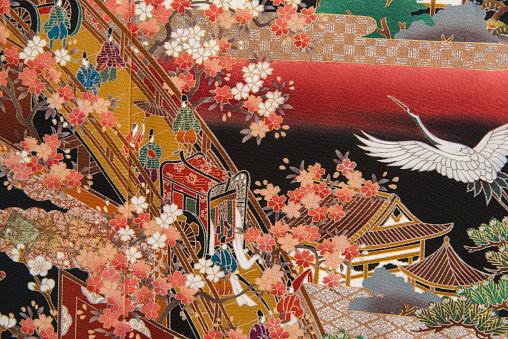 Embroidery「The Japanese Kimono, close up」:スマホ壁紙(13)